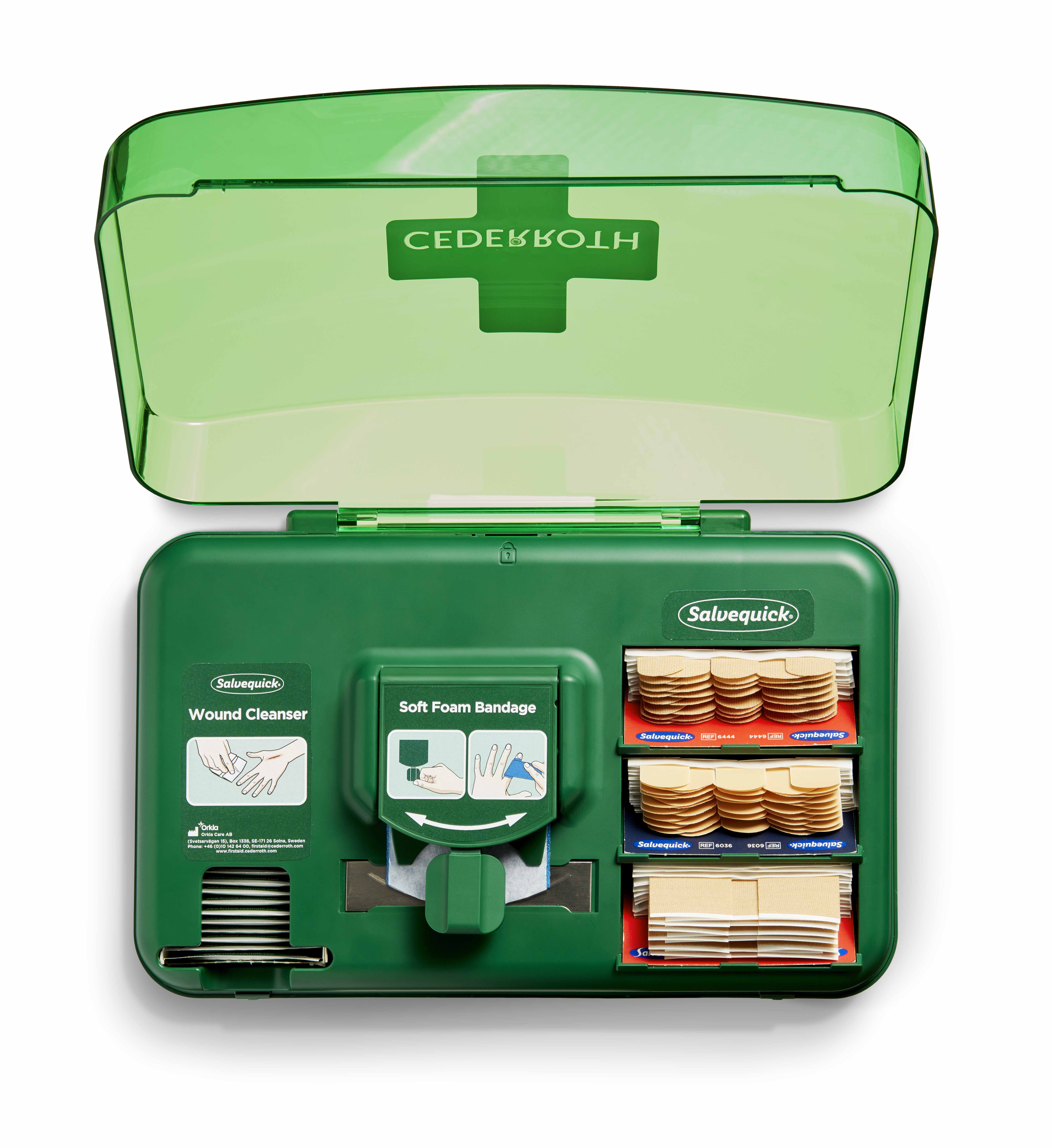 51011006-Cederroth-Wound-Care-Dispenser-open-F malá